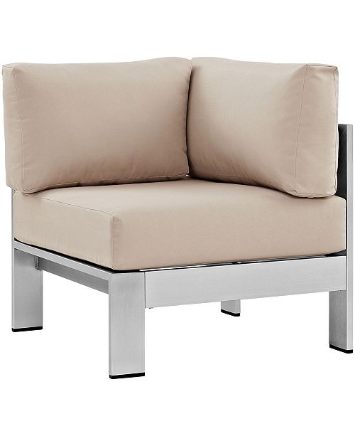 Modway Shore Outdoor Patio Aluminum Corner Sofa