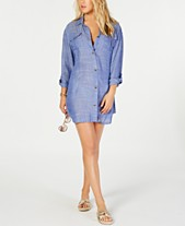 2fdeff4363 Dotti On Island Time Cotton Dress Shirt Cover-Up