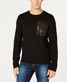 GUESS Men's Camo Pocket Sweater