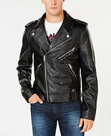 GUESS Men's Rising Tiger Moto Jacket