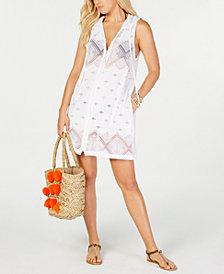 Dotti Santorini Tile Hoodie Dress Cover-Up