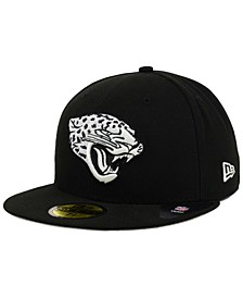 Jacksonville Jaguars Black And White 59FIFTY Fitted Cap