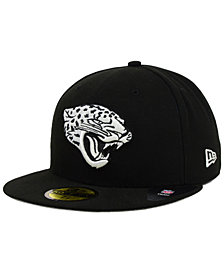New Era Jacksonville Jaguars Black And White 59FIFTY Fitted Cap