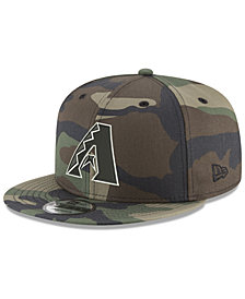 New Era Arizona Diamondbacks Woodland Black/White 9FIFTY Snapback Cap