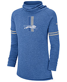 Nike Women's Detroit Lions Funnel Neck Long Sleeve T-Shirt