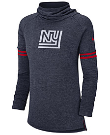 Nike Women's New York Giants Funnel Neck Long Sleeve T-Shirt