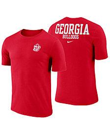 Nike Men's Georgia Bulldogs Dri-FIT Cotton Stadium T-Shirt
