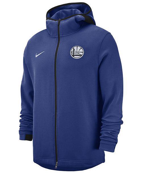 Nike Men's Golden State Warriors Dry Showtime Full Zip Hoodie