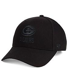 Green Bay Packers Black & Black MVP Strapback Cap