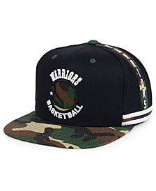 Mitchell & Ness Golden State Warriors Straight Fire Camo Hook Snapback Cap