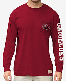 Retro Brand Men's South Carolina Gamecocks Heavy Weight Long Sleeve Pocket T-Shirt