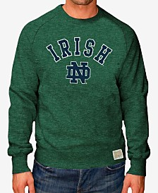 Retro Brand Men's Notre Dame Fighting Irish Softee Heather Crew Sweatshirt