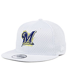 New Era Milwaukee Brewers Batting Practice Mesh 9FIFTY Snapback Cap