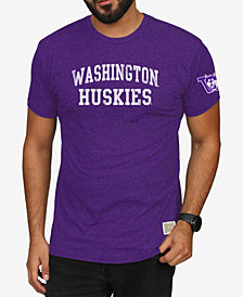 Retro Brand Men's Washington Huskies Stacked Wordmark T-Shirt