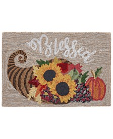 """Liora Manne Front Porch Indoor/Outdoor Blessed Natural 2'6"""" x 4' Area Rug"""