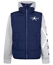 efa8c1cec59a Jordan Toddler Boys Layered-Look Hooded Puffer Jacket