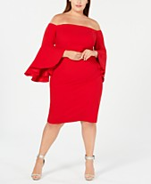d3584801d00 Calvin Klein Plus Size Off-The-Shoulder Crepe Dress