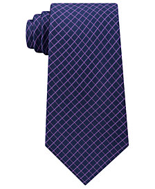 Michael Kors Men's Extra Long Mini Grid Silk Tie