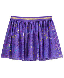 Epic Threads Little Girls Rainbow Glitter-Mesh Skirt, Created for Macy's