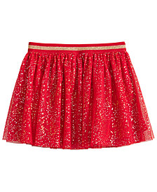 Epic Threads Little Girls Glitter-Dot Tulle Skirt, Created for Macy's