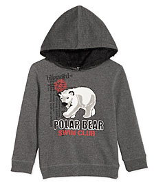 Epic Threads Little Boys Polar Bear Hoodie, Created for Macy's