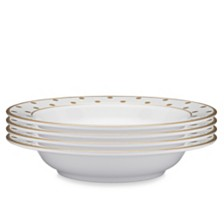 Q Squared Moonbeam Dots Gold Melamine 4-Pc. Pasta Bowl Set