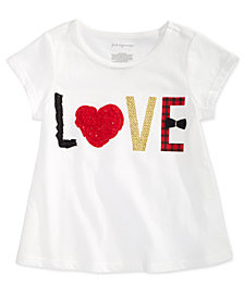 First Impressions Baby Girls Love-Print Cotton T-Shirt, Created for Macy's