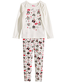 Epic Threads Little Girls Holiday Cats T-Shirt & Leggings, Created for Macy's