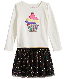 Epic Threads Little Girls Cupcake T-Shirt & Dot-Print Skirt, Created for Macy's