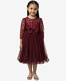 Bonnie Jean Little Girls Sequin Bonaz Party Dress