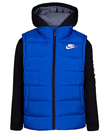 Nike Toddler Boys Therma-FIT Quilted 2-in-1 Jacket