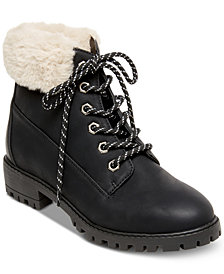 Madden Girl Frankie Faux-Fur Hiker Booties
