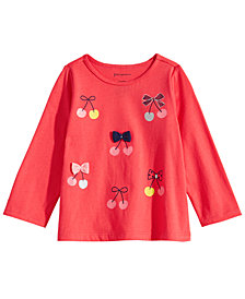 First Impressions Baby Girls Cherries-Print Cotton T-Shirt, Created for Macy's