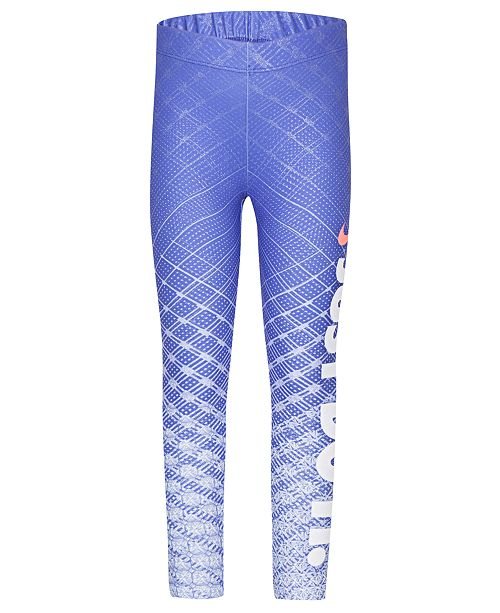 b236a4d5552bed Nike. Little Girls Dri-FIT Printed Logo Leggings. Be the first to Write a  Review. main image; main image ...