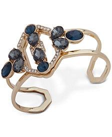 Ivanka Trump Gold-Tone Crystal Openwork Cuff Bracelet