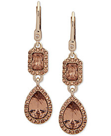 Ivanka Trump Pavé & Stone Double Drop Earrings