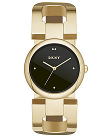DKNY Women's East Gold-Tone Stainless Steel Bangle Bracelet Watch 36mm, Created for Macy's