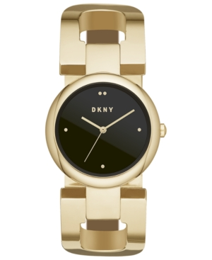 Dkny WOMEN'S EASTSIDE GOLD-TONE STAINLESS STEEL BANGLE BRACELET WATCH 36MM, CREATED FOR MACY'S