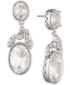 Janny Packham Silver-Tone Crystal Drop Earrings