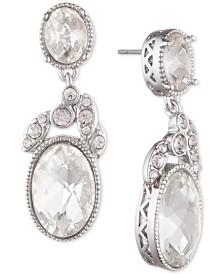 Janny Packham Silver-Tone Crystal Drop Earrings