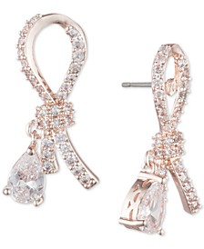 Stone & Crystal Ribbon Stud Earrings