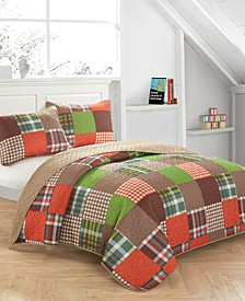 Plaid Patchwork Quilt Set - Full