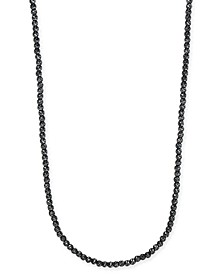 "Men's 24"" Beaded Necklace in Black Rhodium-Plated Sterling Silver"