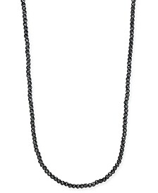 "DEGS & SAL Men's 24"" Beaded Necklace in Black Rhodium-Plated Sterling Silver"