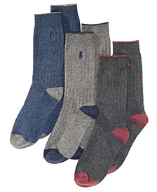 Polo Ralph Lauren 3-Pk. Ribbed Dress Socks, Toddler Boys, Little Boys & Big Boys
