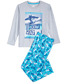 Max & Olivia Little & Big Boys 2-Pc. Snow Way Pajamas Set