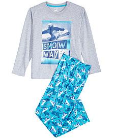 Max & Olivia Little & Big Boys 2-Pc. Snow Way Pajamas Set