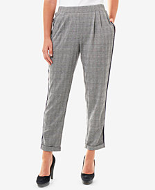 NY Collection Side-Stripe Pull-On Pants