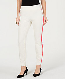 Alfani Side-Stripe Skinny Pants, Created for Macy's