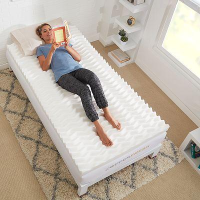 Authentic Comfort Copperfresh Wave 4 Dorm Foam Mattress Topper